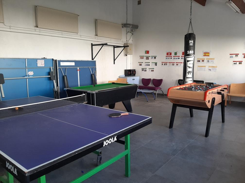 Internat salle de jeux